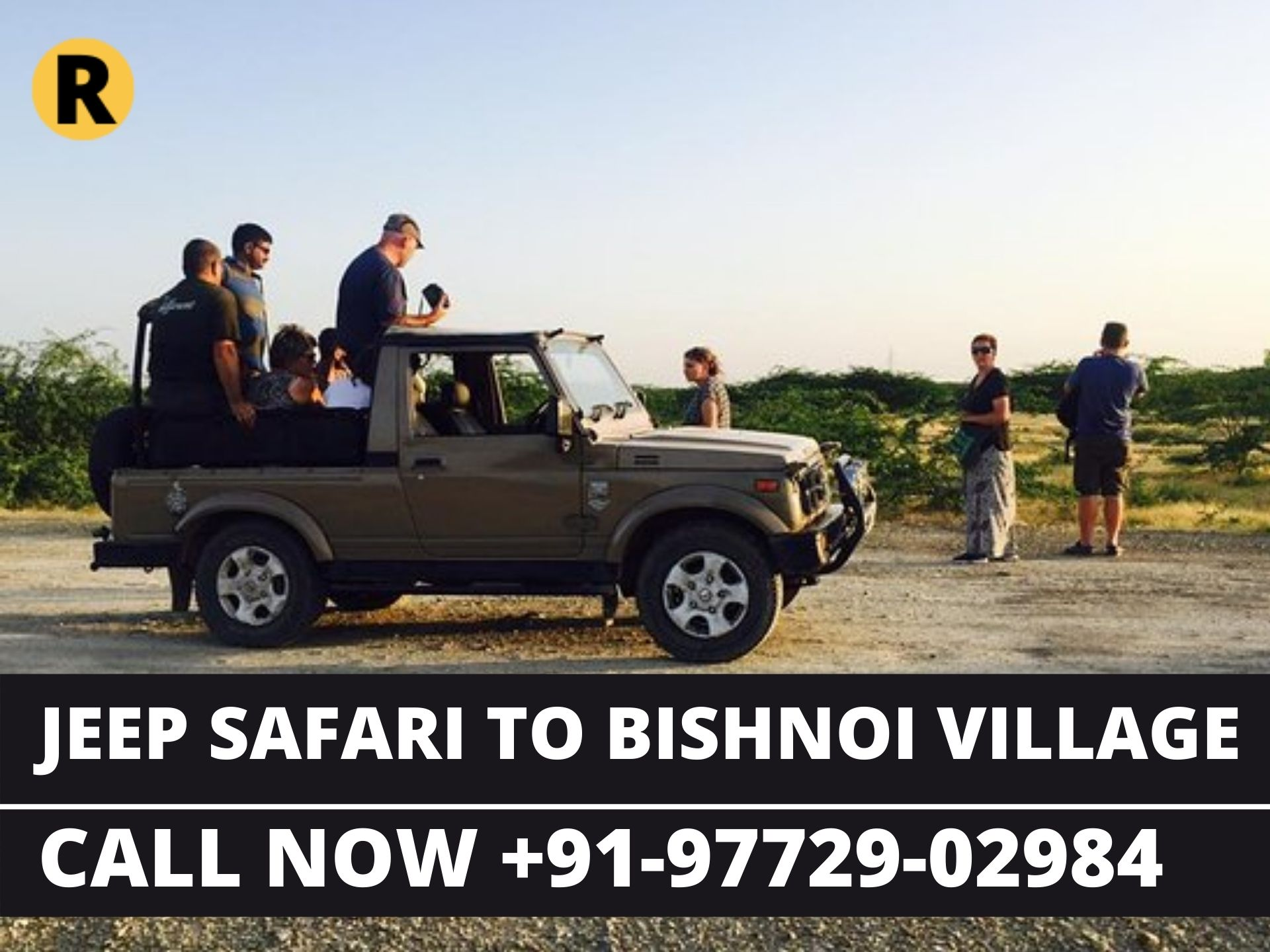 Jeep Safari to Bishnoi Village